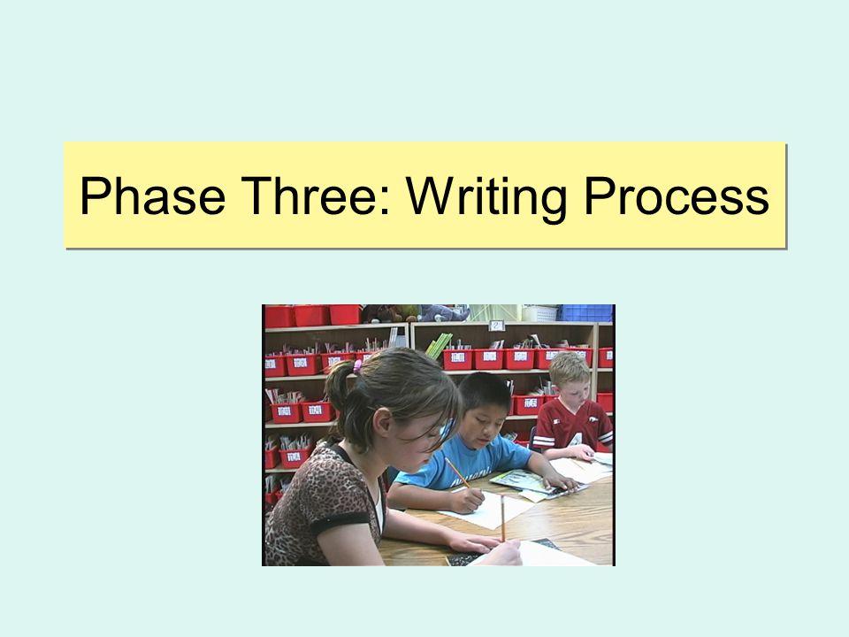 Phase Three: Writing Process