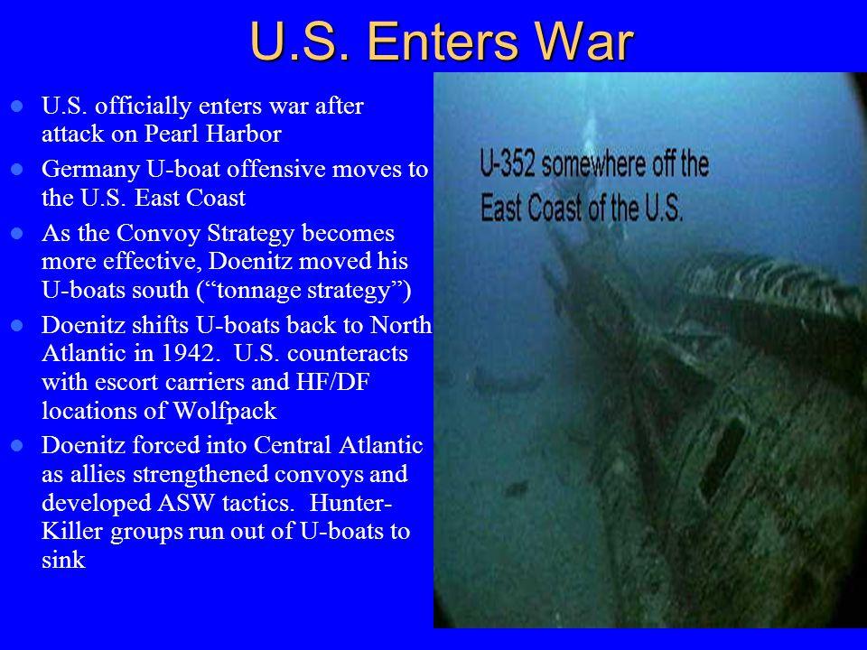 U.S. Enters War U.S.