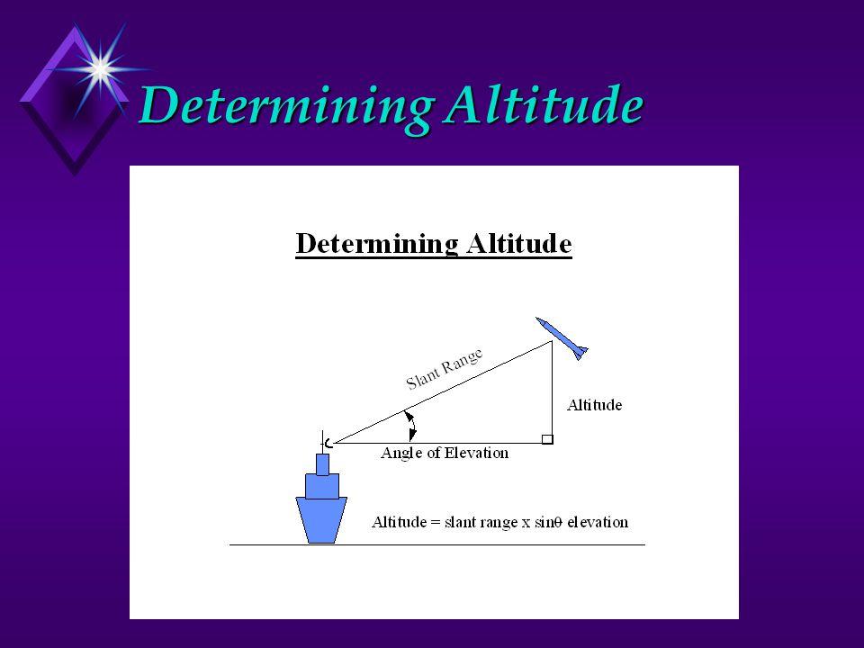 Determining Altitude