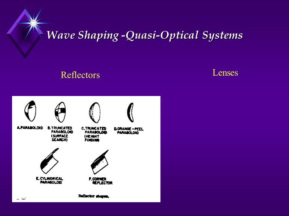 Wave Shaping -Quasi-Optical Systems Reflectors Lenses