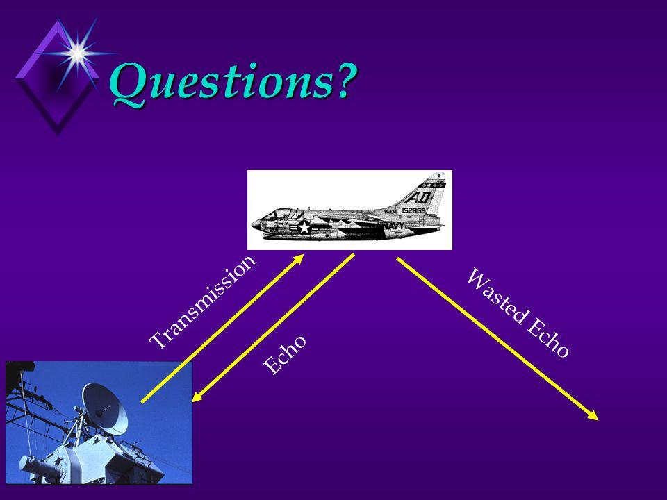 Questions? Transmission Echo Wasted Echo