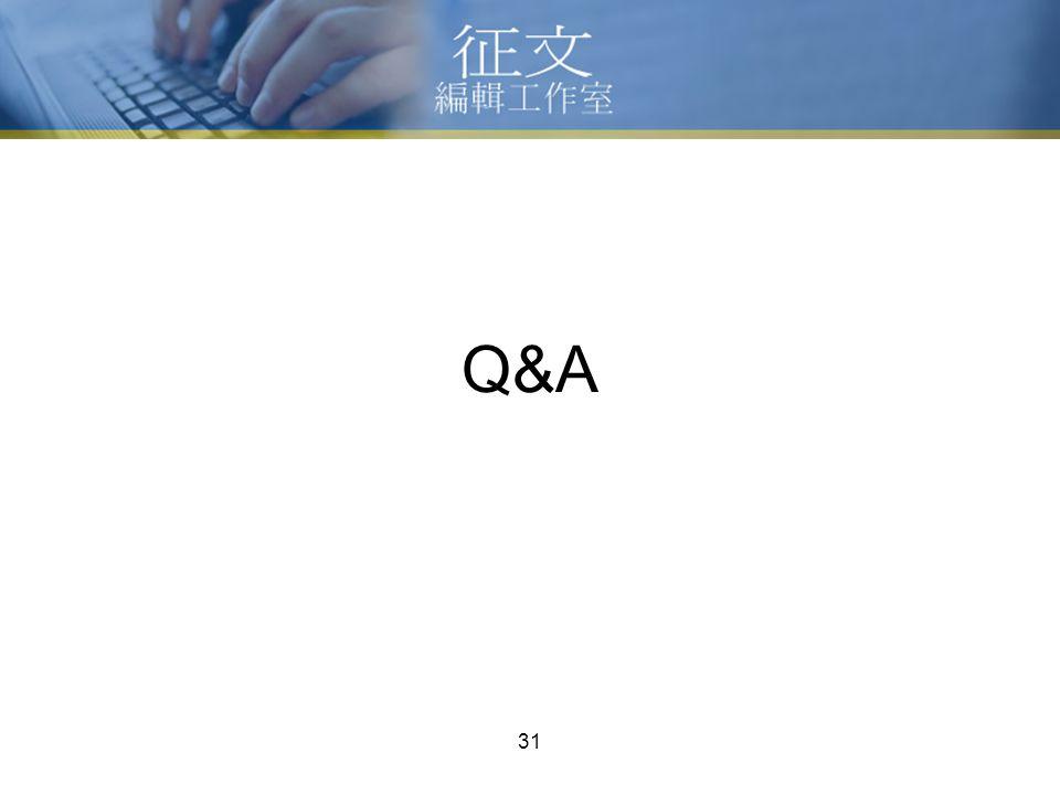 31 Q&A
