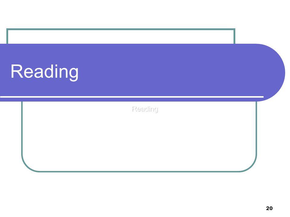 20 Reading Reading