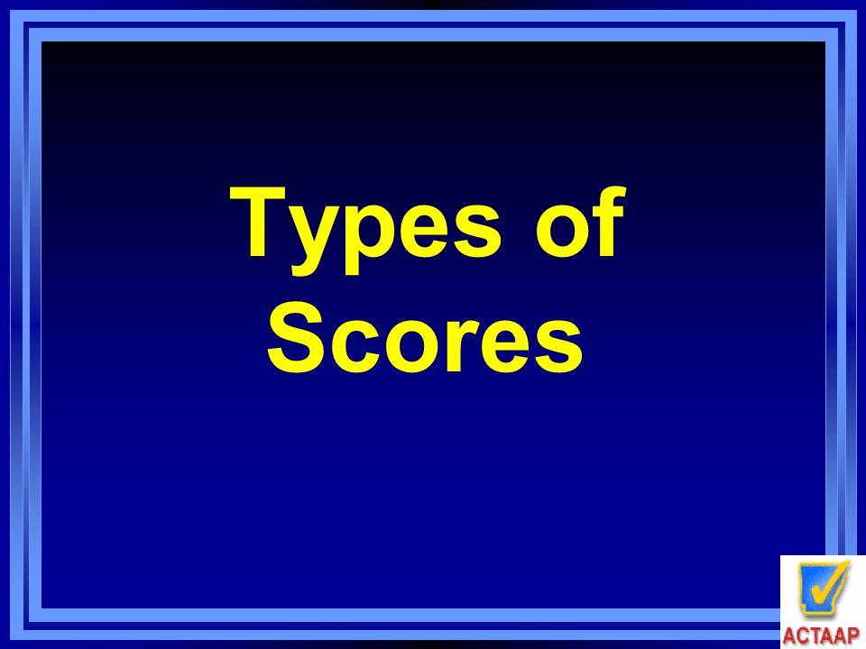 Types of Scores