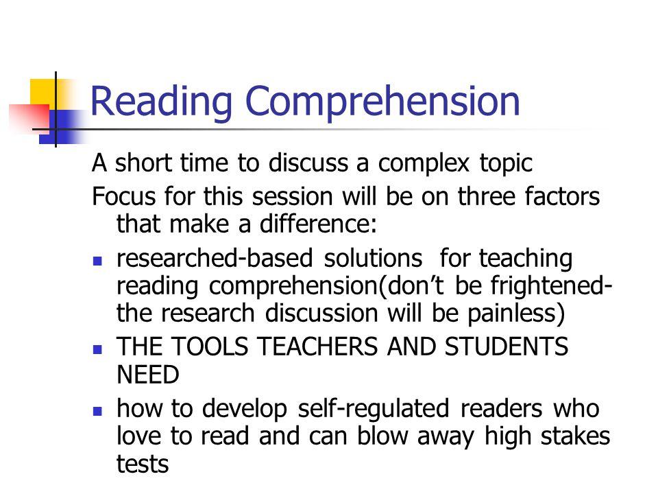 Metacomprehension Strategy Index (Schmidt, 1990) What it is.