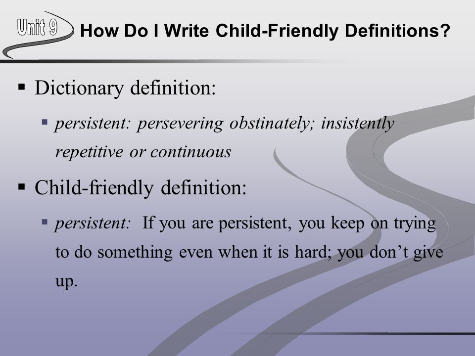 How Do I Write Child-Friendly Definitions.