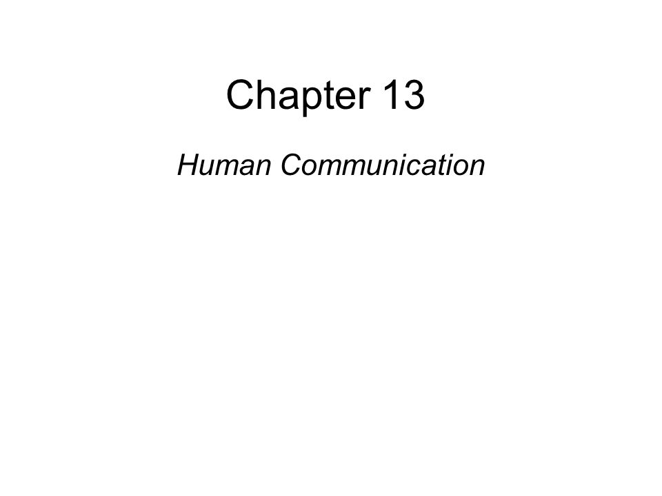 Copyright © 2008 Pearson Allyn & Bacon Inc.1 Chapter 13 Human Communication This multimedia product and its contents are protected under copyright law.