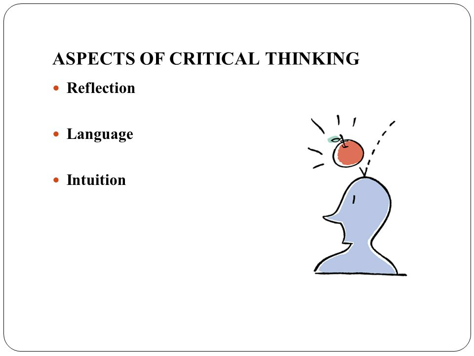 ASPECTS OF CRITICAL THINKING Reflection Language Intuition
