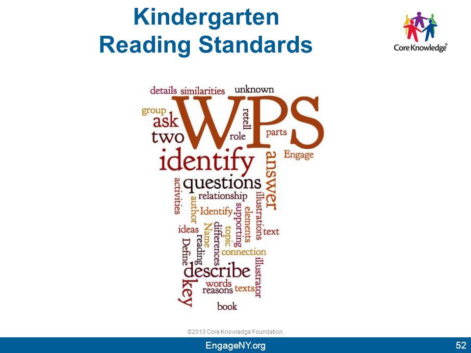 ©2013 Core Knowledge Foundation. Kindergarten Reading Standards 52EngageNY.org 52