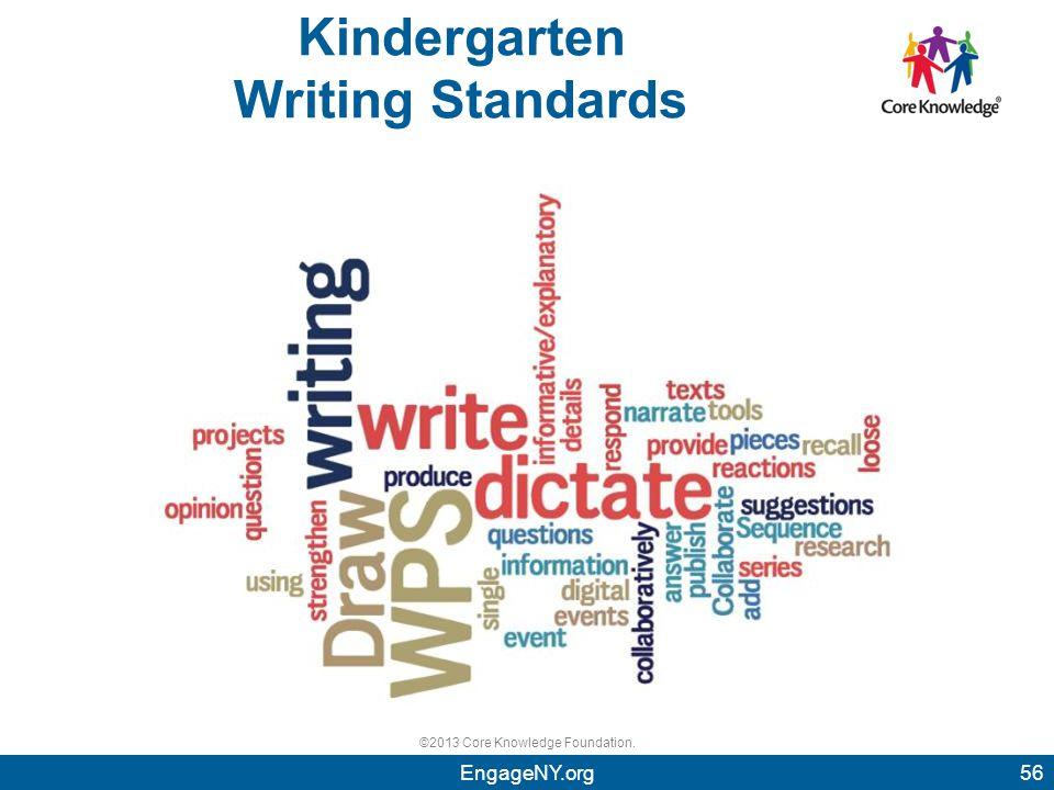 ©2013 Core Knowledge Foundation. Kindergarten Writing Standards 56EngageNY.org 56