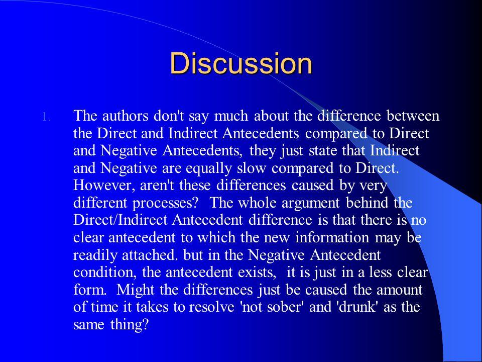 Discussion 1.