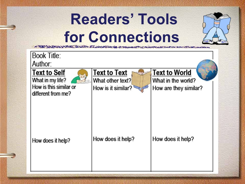 14 Readers' Tools for Connections