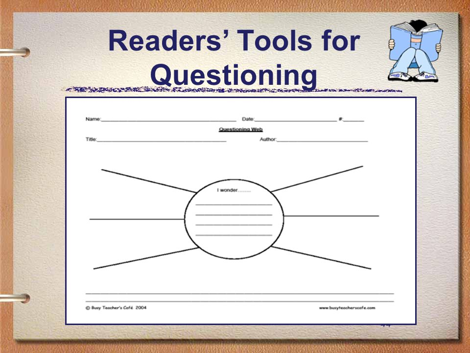 44 Readers' Tools for Questioning
