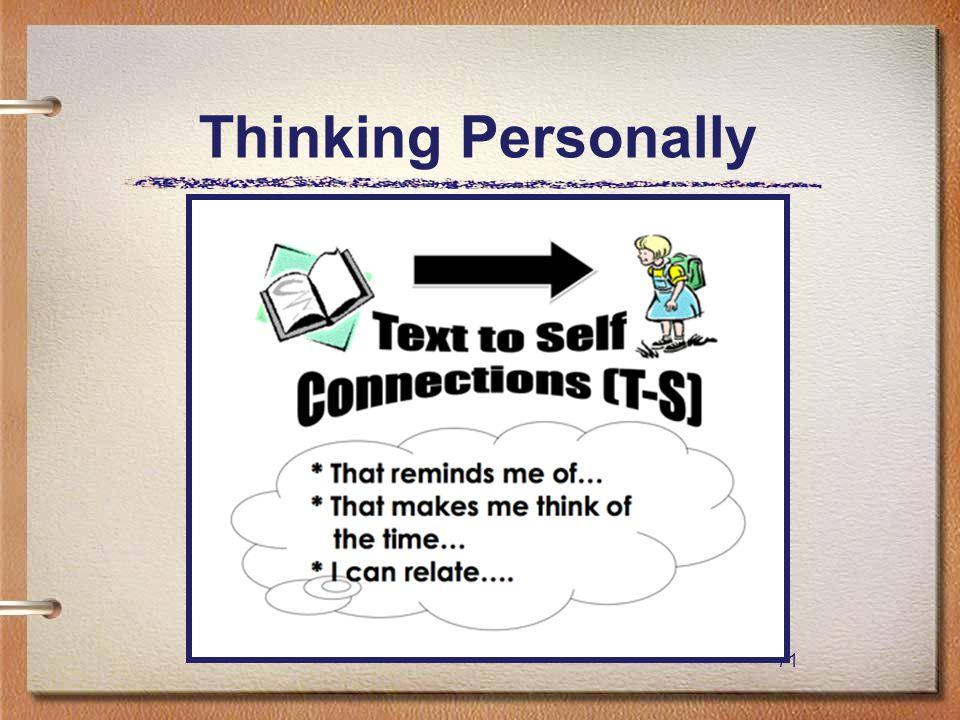 71 Thinking Personally