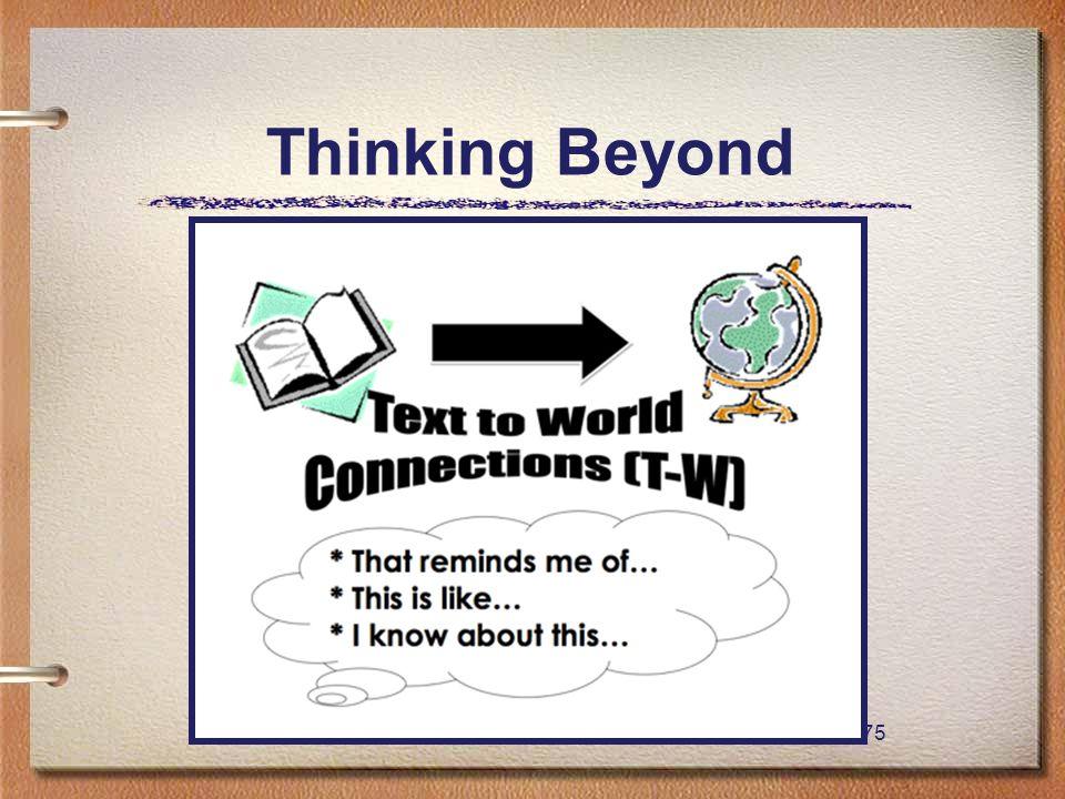 75 Thinking Beyond