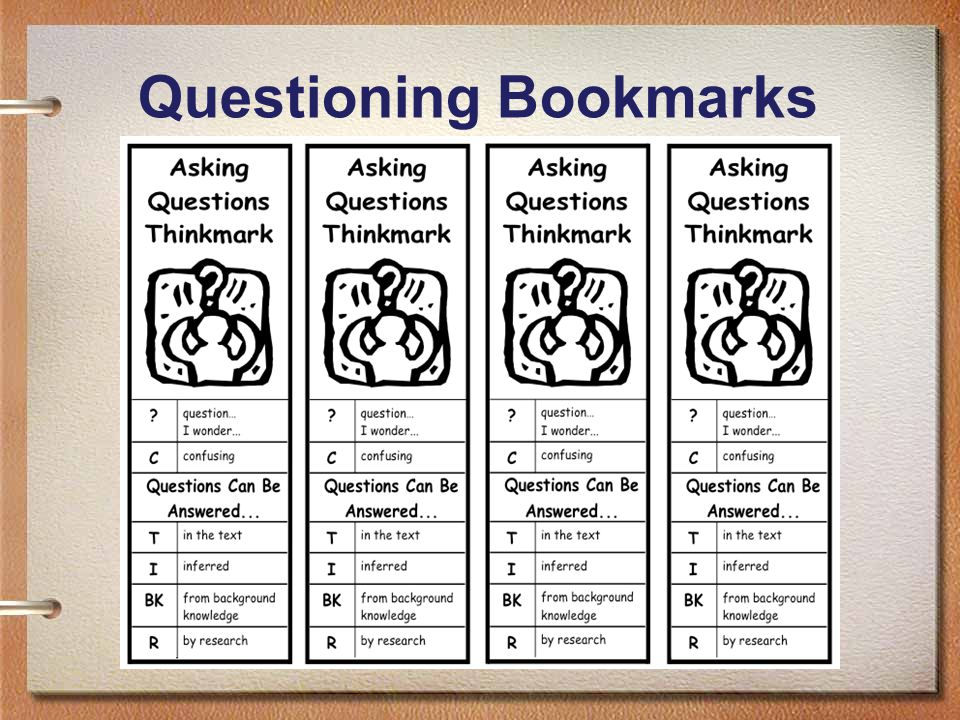 81 Questioning Bookmarks