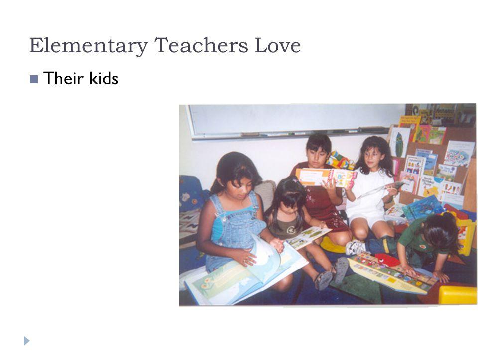 Secondary Teachers Love Their subjects