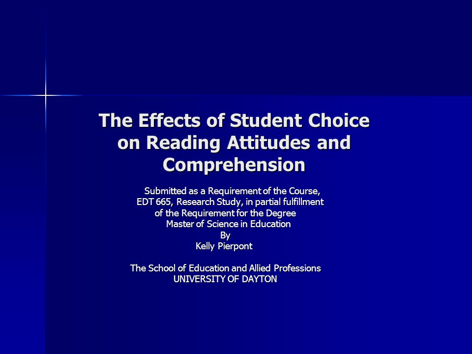 Research Question  What impact does choice have on student's comprehension within a reading workshop setting.