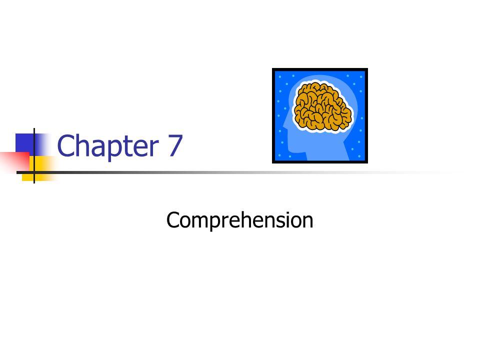 Chapter 7 Comprehension
