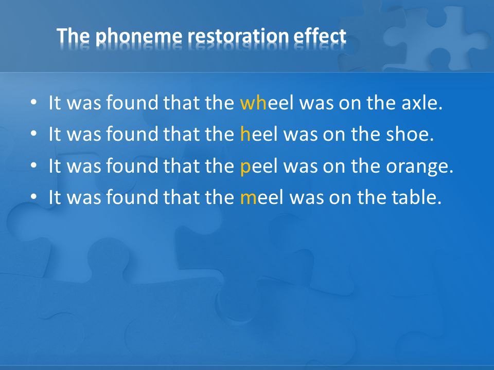 It was found that the wheel was on the axle. It was found that the heel was on the shoe.