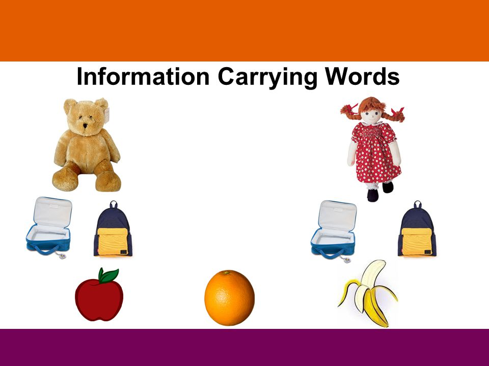 Information Carrying Words