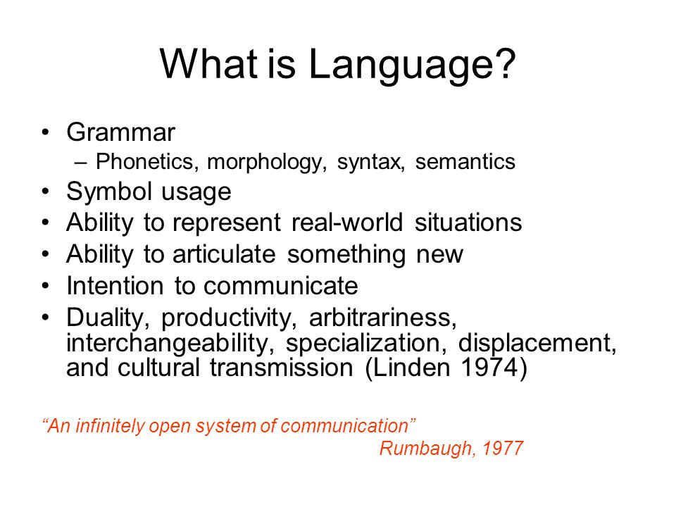What is Language.