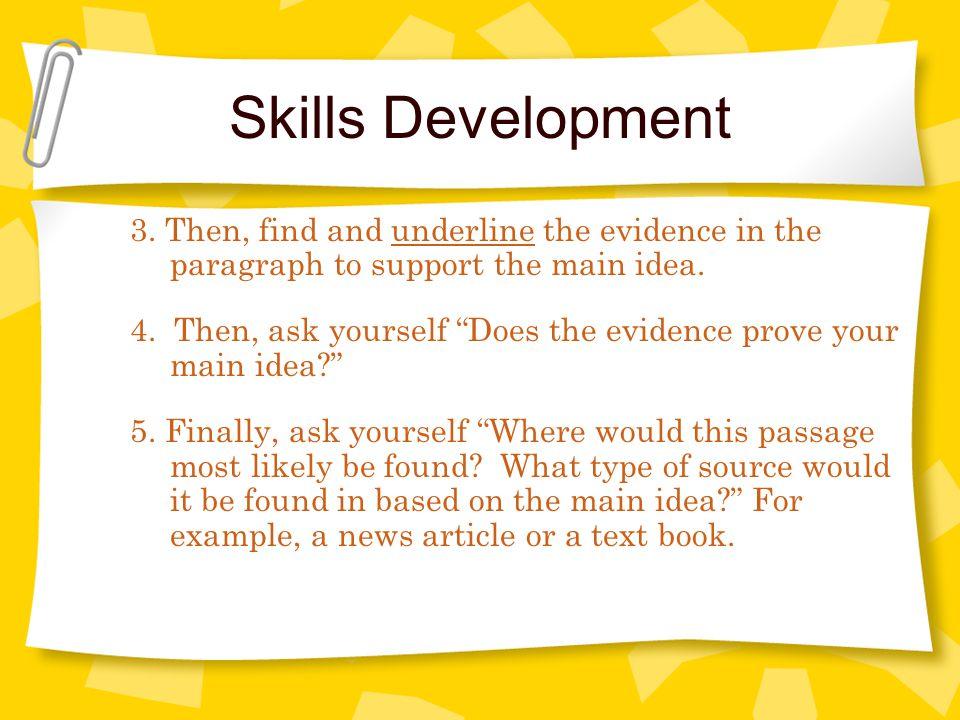 Skills Development 3.