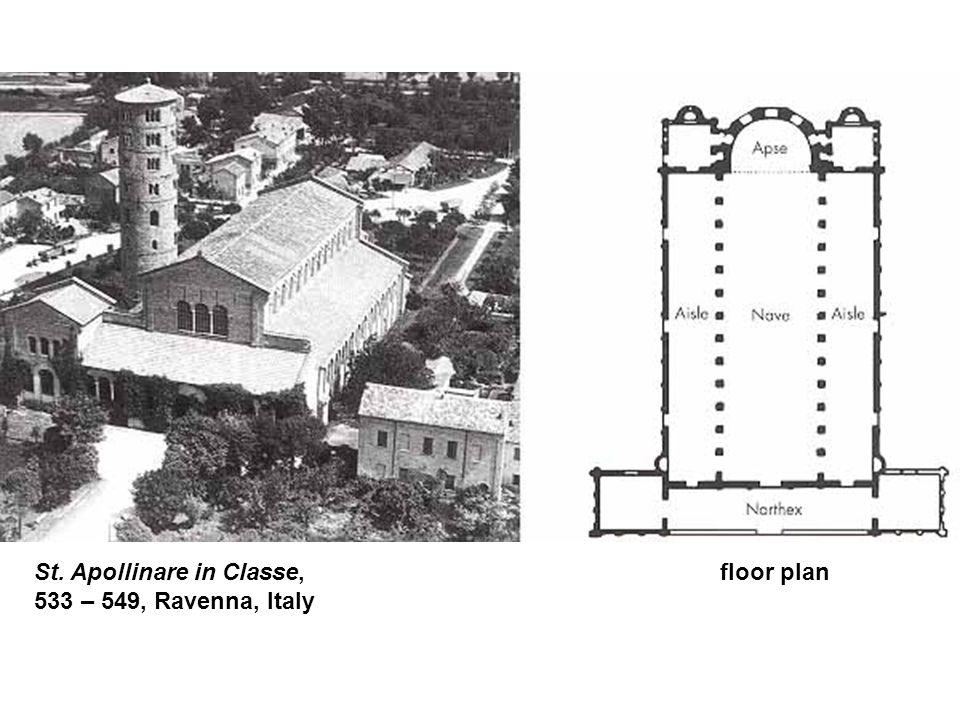 St. Apollinare in Classe, floor plan 533 – 549, Ravenna, Italy