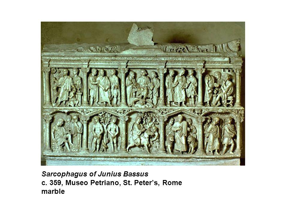 Sarcophagus of Junius Bassus c. 359, Museo Petriano, St. Peter's, Rome marble