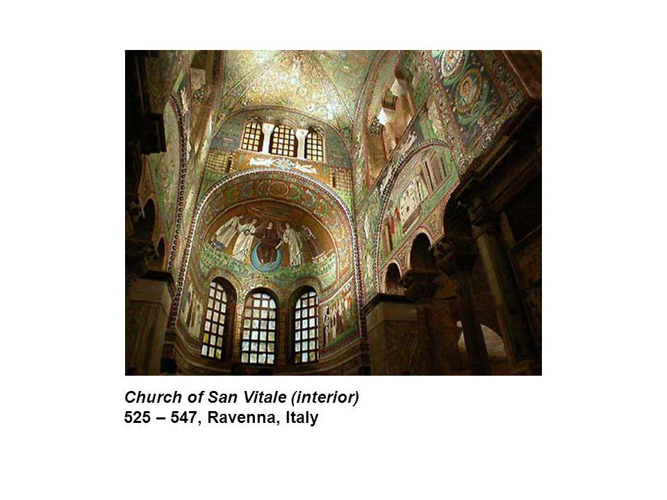 Church of San Vitale (interior) 525 – 547, Ravenna, Italy