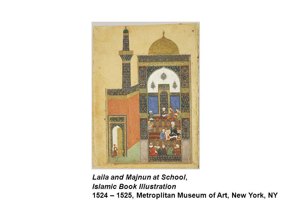 Laila and Majnun at School, Islamic Book Illustration 1524 – 1525, Metroplitan Museum of Art, New York, NY