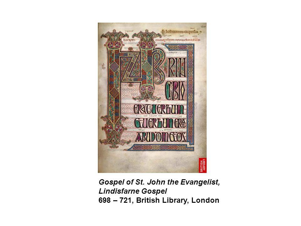 Gospel of St. John the Evangelist, Lindisfarne Gospel 698 – 721, British Library, London