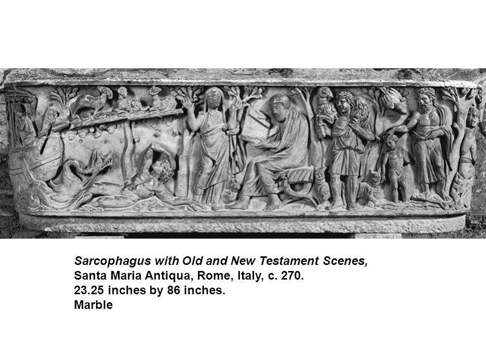 Sarcophagus with Old and New Testament Scenes, Santa Maria Antiqua, Rome, Italy, c.