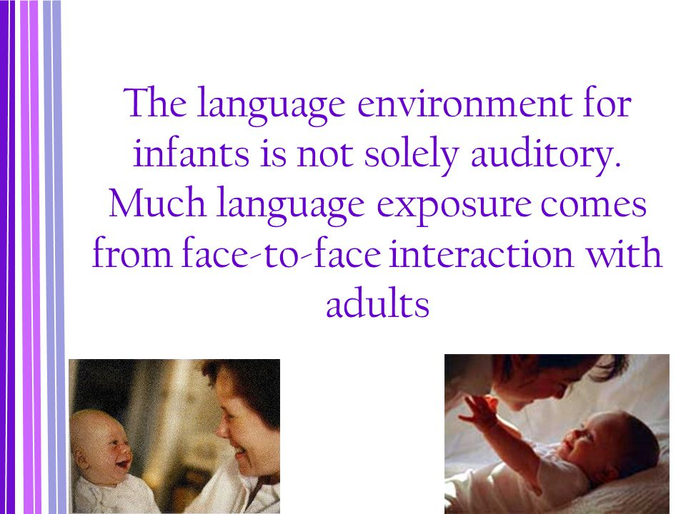 Baby Talk Babbling is the extended repetition of certain single syllables, such as ma-ma-ma, da-da-da, ba-ba-ba that begins at 6-7 months of age.