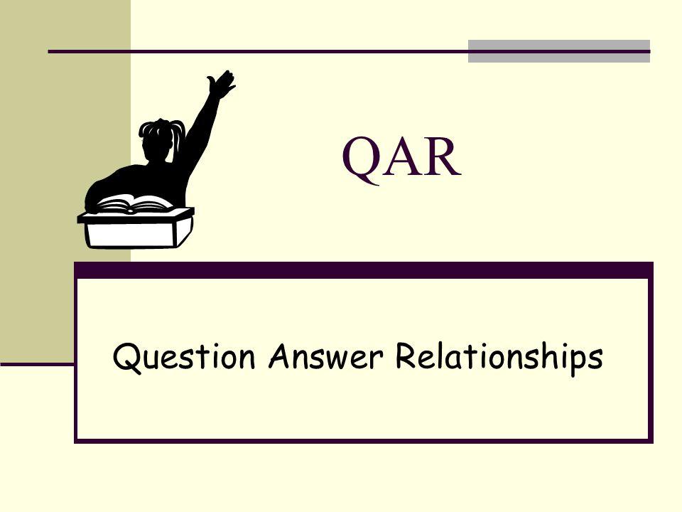 QAR Question Answer Relationships