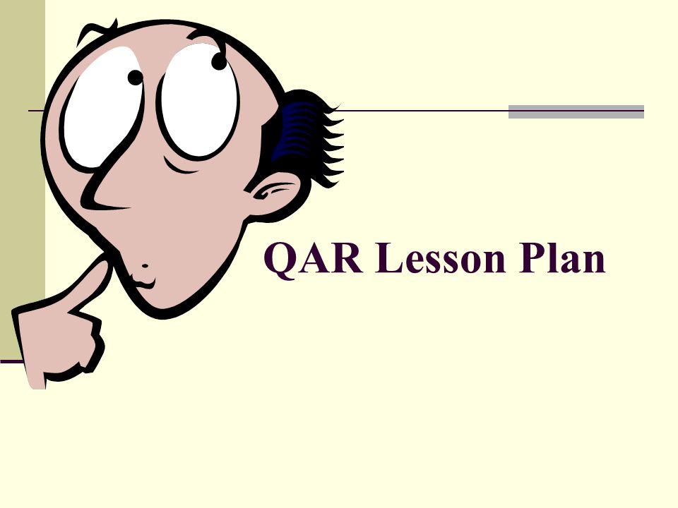QAR Lesson Plan