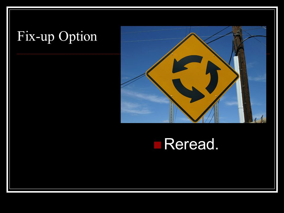 Fix-up Option Reread.
