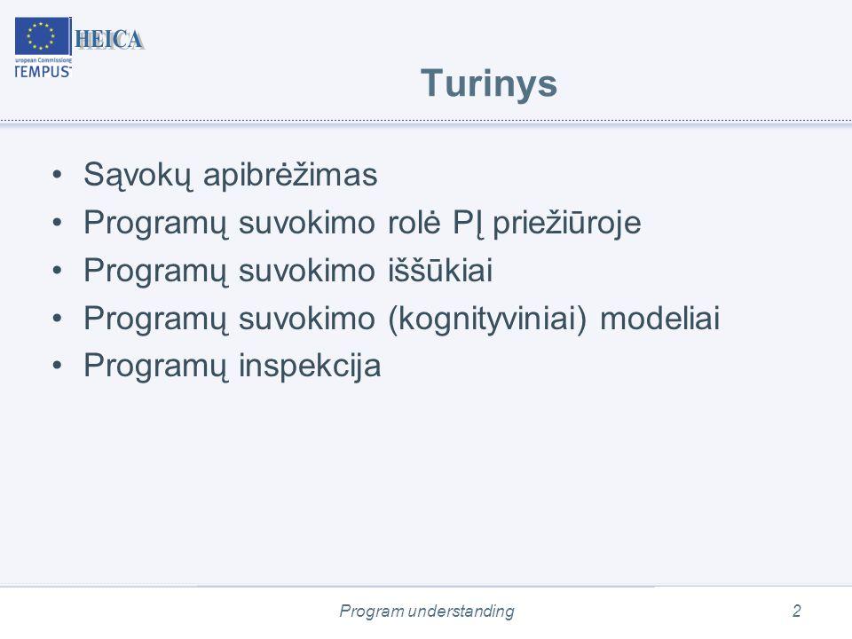 Program understanding13 Suvokimas iš viršaus į apačią