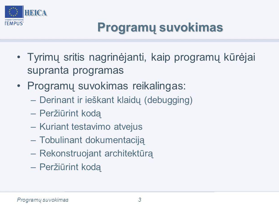 Programos kodo peržiūra (Software Inspection) Program understanding74