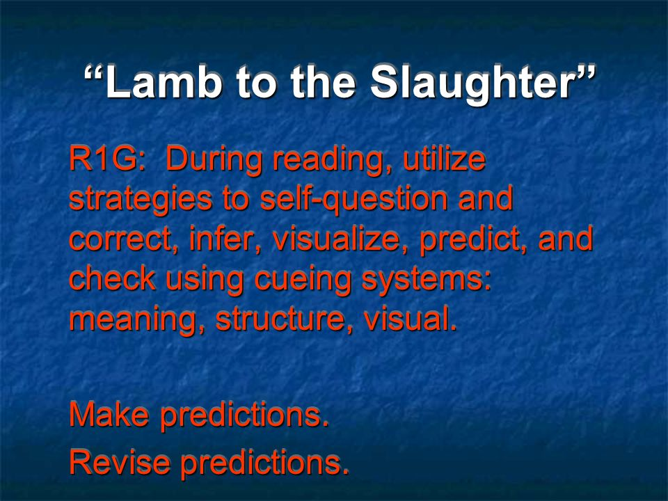 Lamb to the Slaughter tone Academic vocabulary