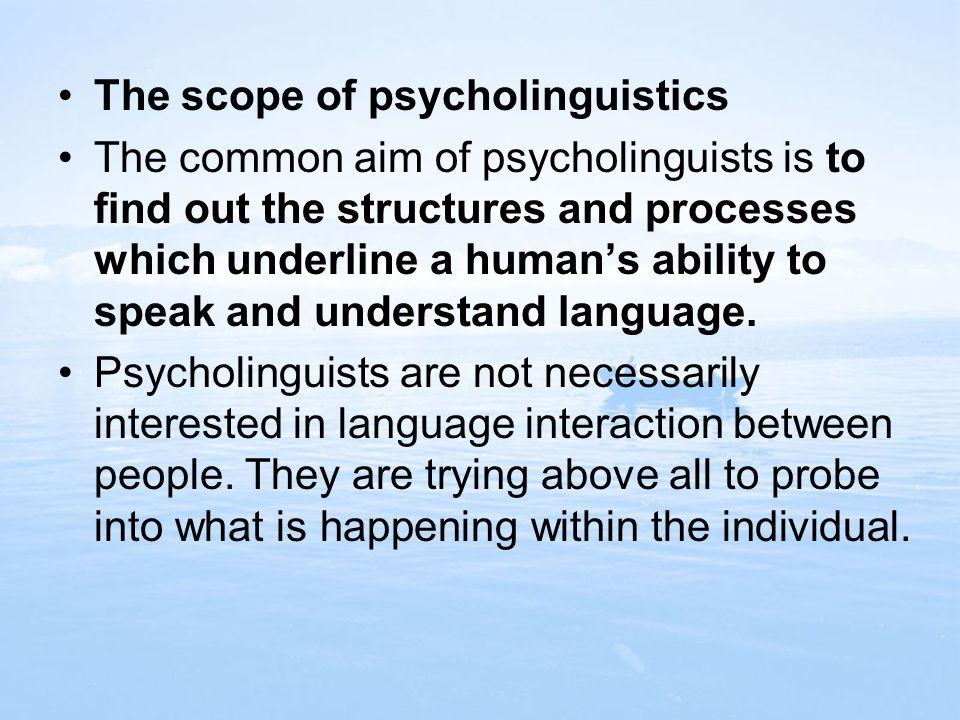 9.3 Language production 1.The definition of language production 2. Stages of language production
