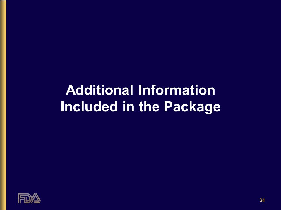34 Additional Information Included in the Package