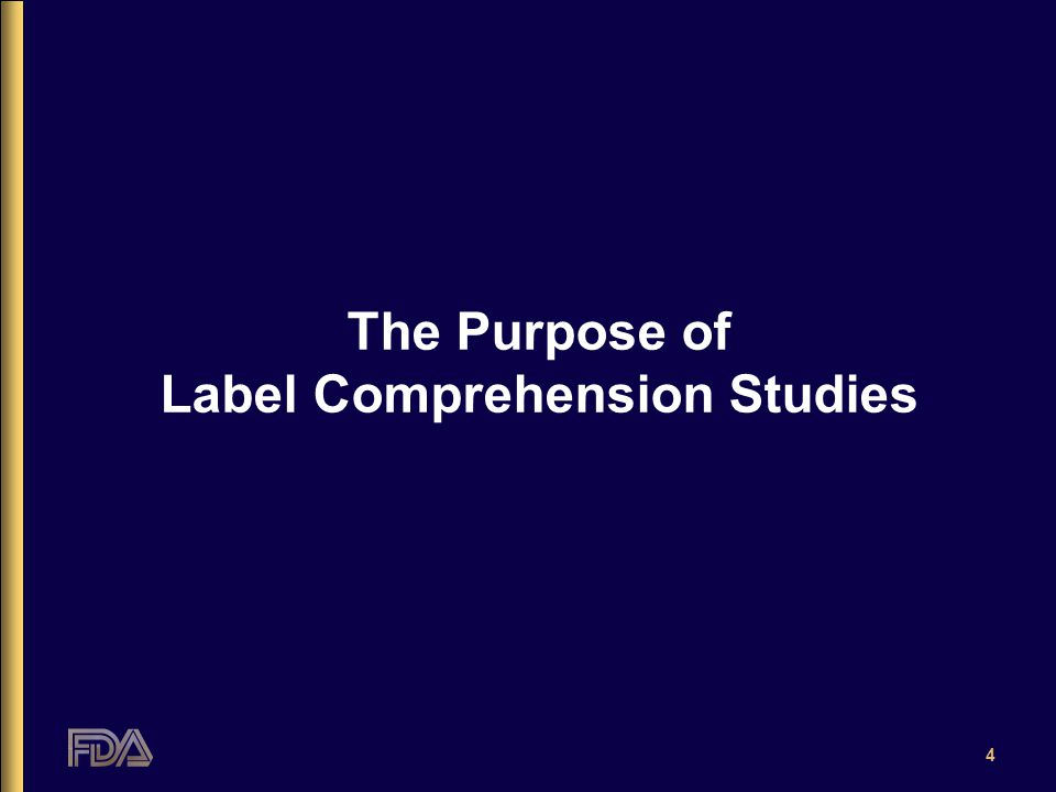 4 The Purpose of Label Comprehension Studies