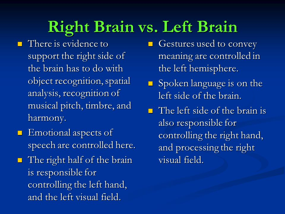 Right Brain vs.
