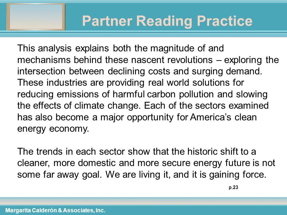 Partner Reading Practice Margarita Calderón & Associates, Inc.