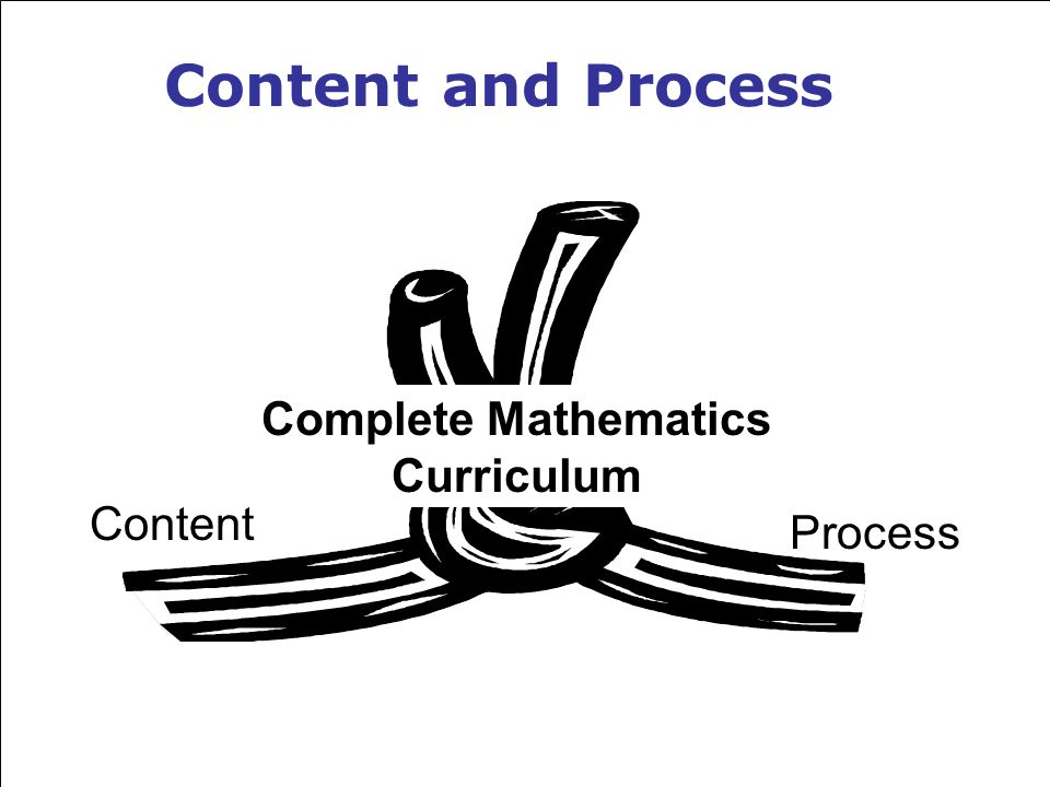 Content and Process Content Process Complete Mathematics Curriculum