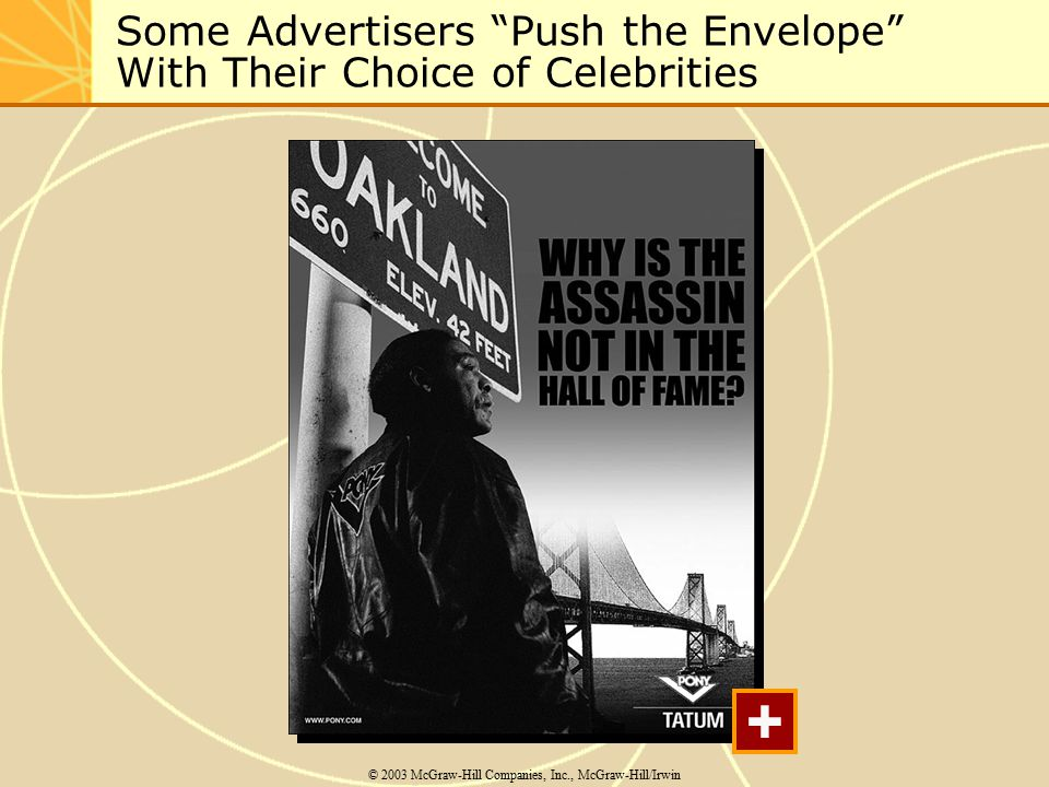 Some Advertisers Push the Envelope With Their Choice of Celebrities © 2003 McGraw-Hill Companies, Inc., McGraw-Hill/Irwin +