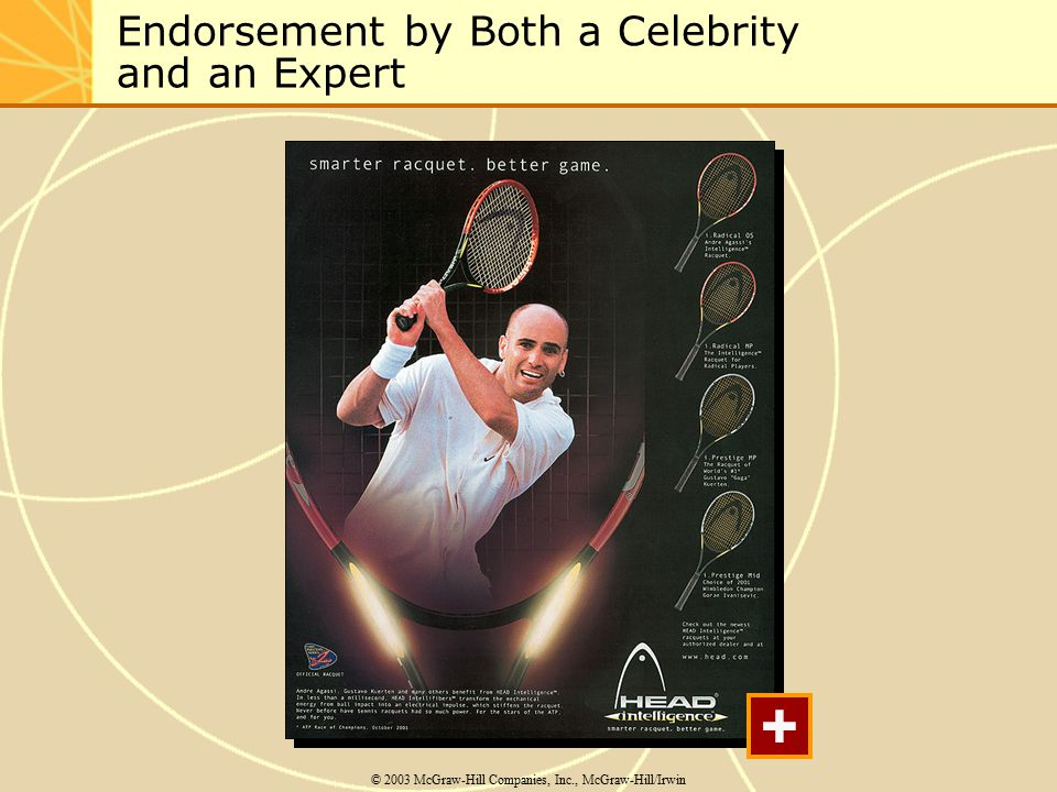 Endorsement by Both a Celebrity and an Expert © 2003 McGraw-Hill Companies, Inc., McGraw-Hill/Irwin +