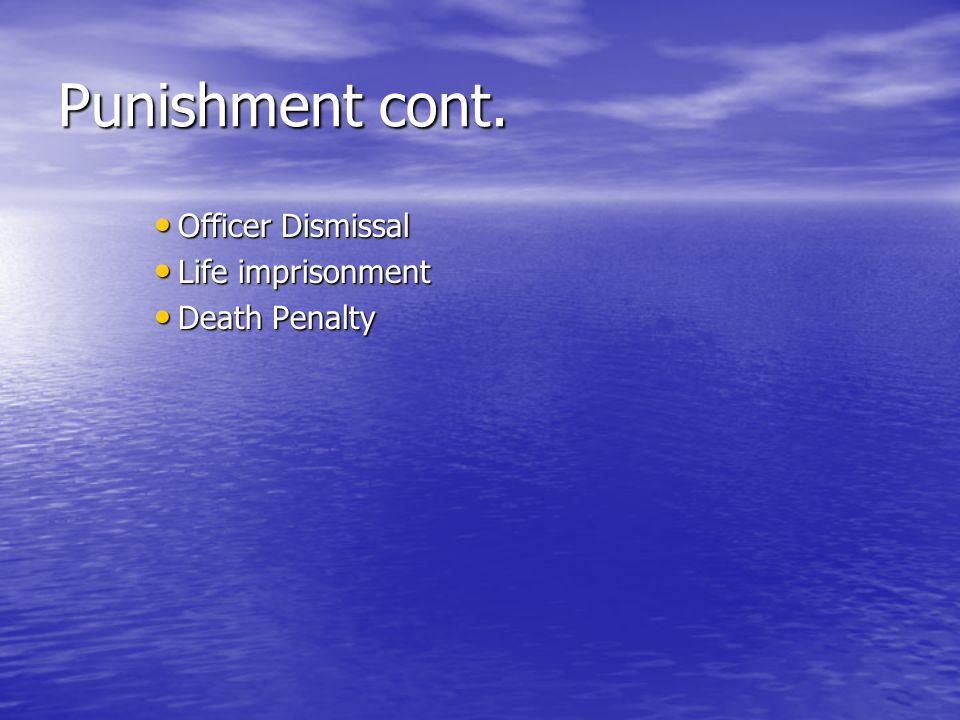 Punishment cont.