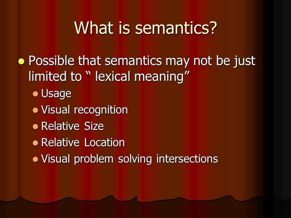 What is semantics.